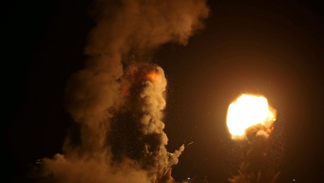 La Fuerza Aérea de Israel ataca objetivos militares de Hamás en la Franja de Gaza, en respuesta al lanzamiento de 2 misiles hacia su territorio
