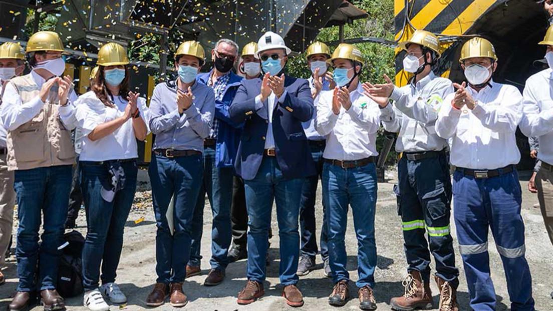 Se inaugura en Colombia el complejo Buriticá, la mina de oro más grande del país, con inversión de una empresa china