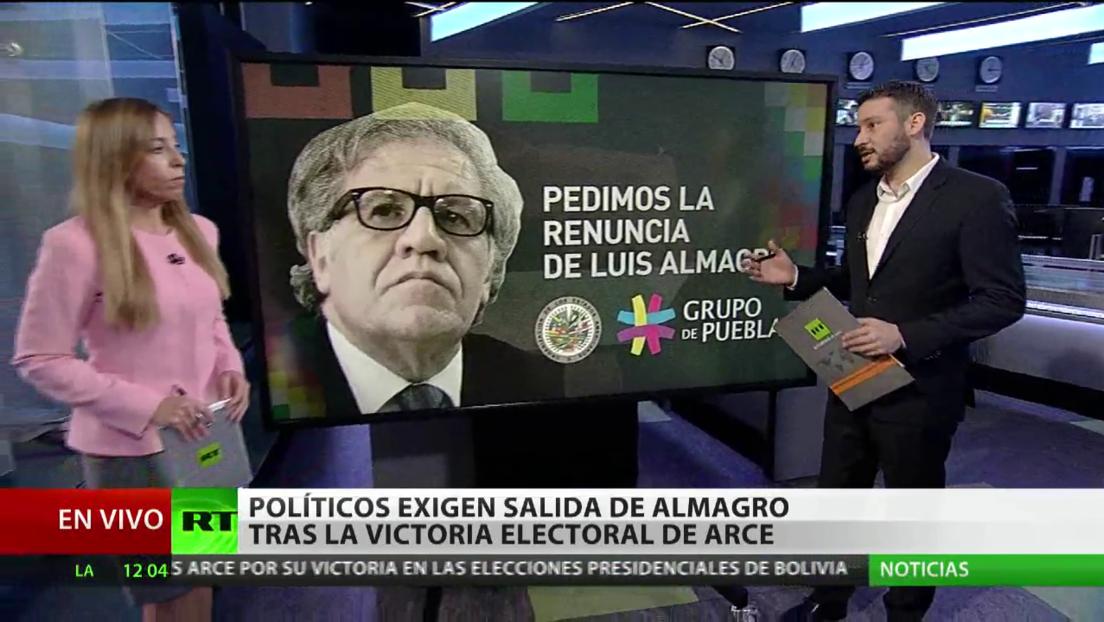 Políticos exigen la salida de Almagro tras la victoria electoral de Arce en Bolivia