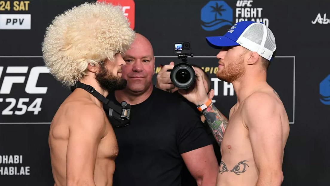 """Nurmagomédov contra Gaethje: llega el día de la """"descomunal"""" pelea por el título de la UFC, la """"más grande del año"""""""