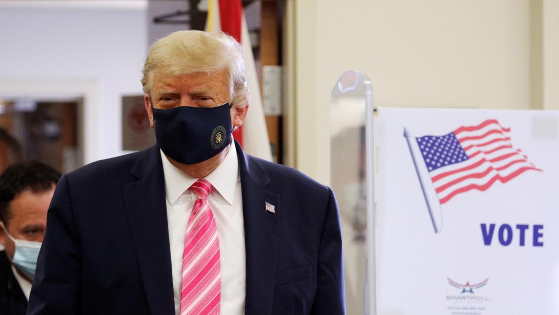 """""""Voté por un tipo llamado Trump"""": el presidente de EE.UU. emite su voto anticipado en Florida"""