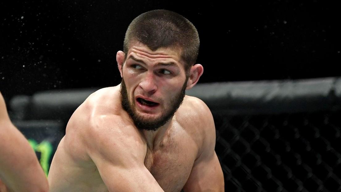 VIDEO: El brutal 'triángulo' de Nurmagomédov con el que acabó con Gaethje en su épico combate por el título de peso ligero de la UFC