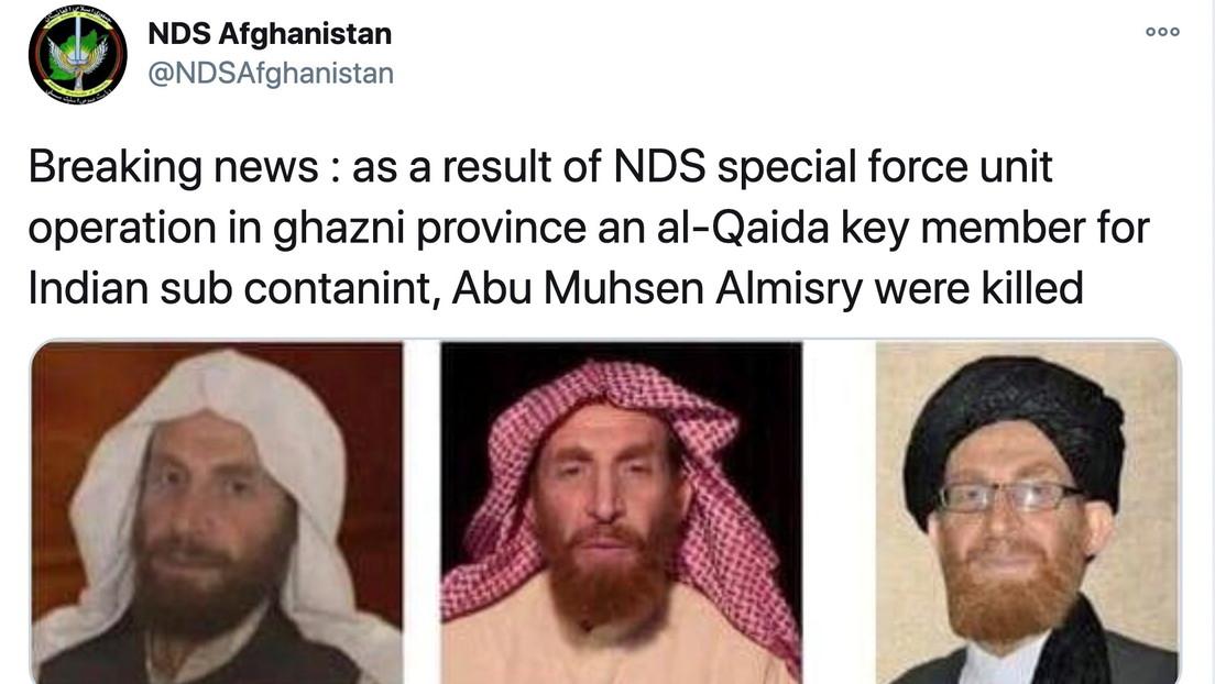 Fuerzas de seguridad afganas eliminan a un líder de alto rango de Al Qaeda