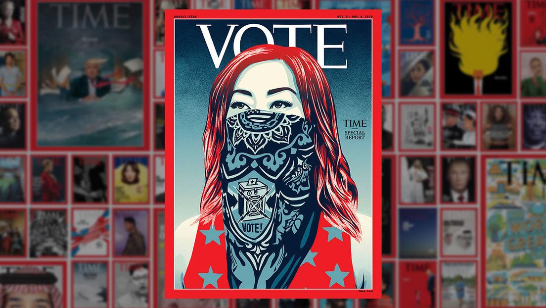 'Vote': la revista Time cambia su cabecera por primera vez en la historia de cara a las próximas elecciones en EE.UU.