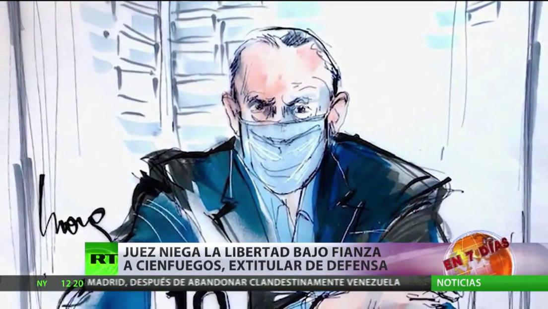 Niegan la libertad bajo fianza a Salvador Cienfuegos