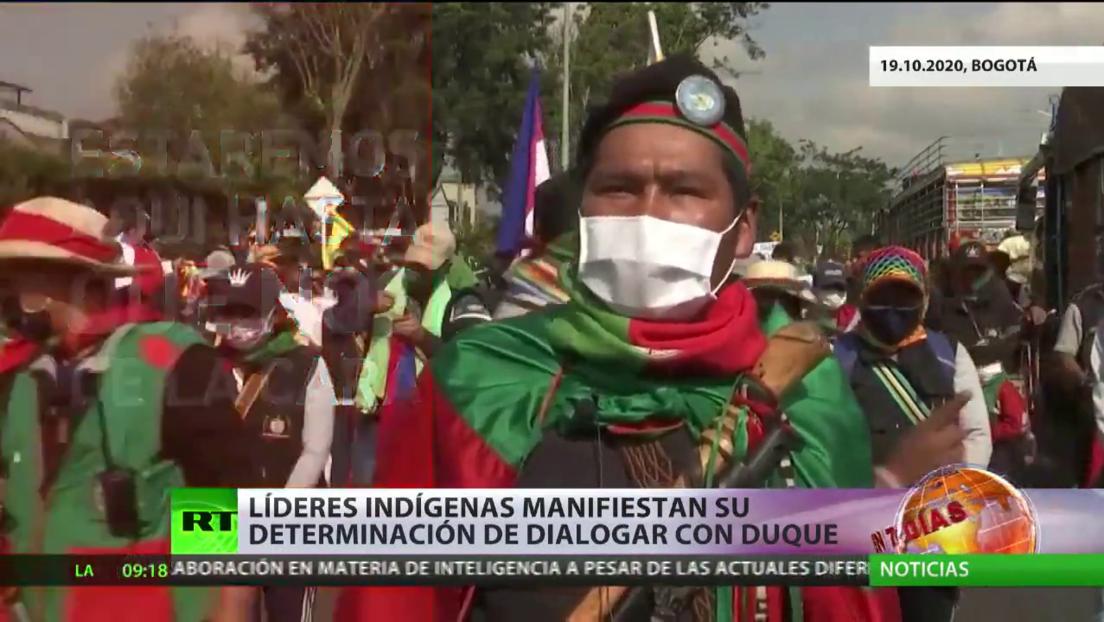 Líderes indígenas en Colombia manifiestan su determinación de dialogar con Duque