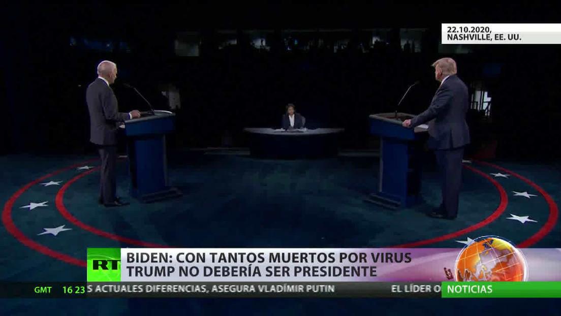 Trump y Biden exponen sus visiones en el último debate presidencial