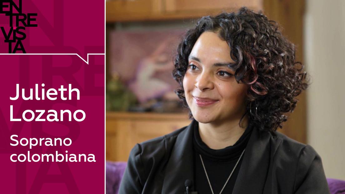 """Soprano colombiana Julieth Lozano: """"Los latinos somos más abiertos para compartir nuestra energía"""""""