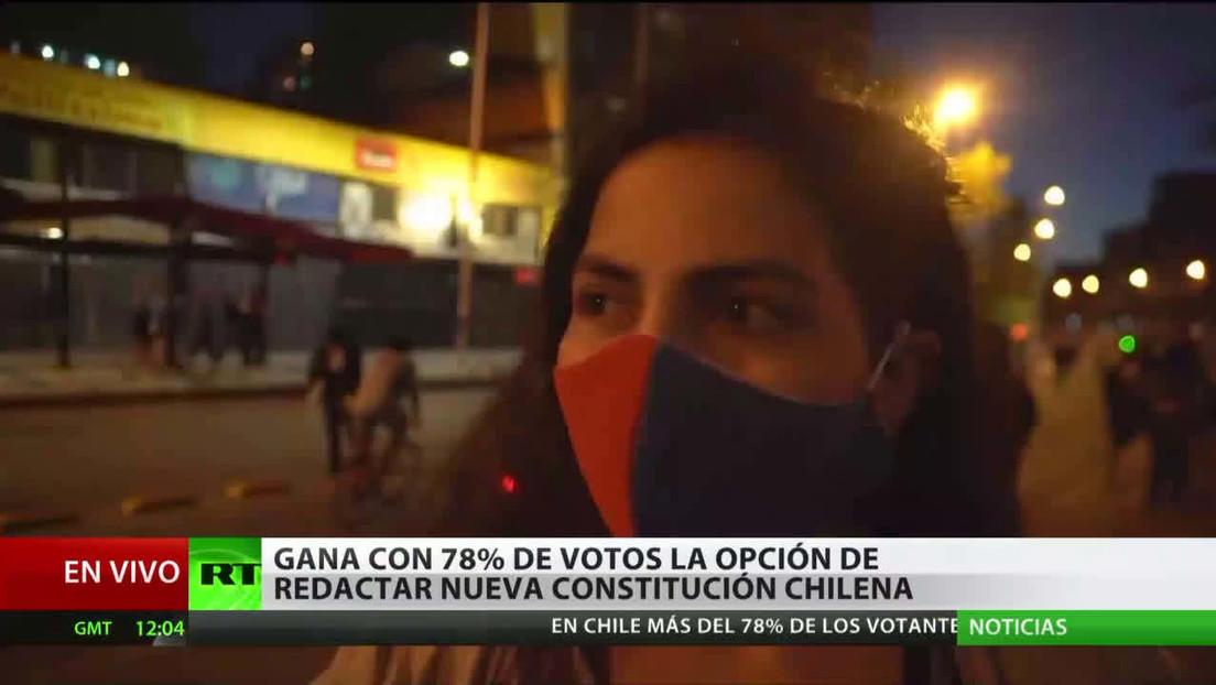 Chile: Gana la opción de redactar una nueva Constitución con el 78 % de los votos