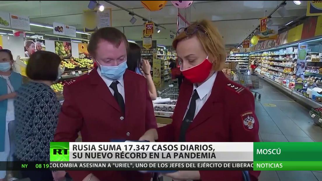 Rusia registra un nuevo récord de contagios diarios, con más de 17.000 casos en 24 horas
