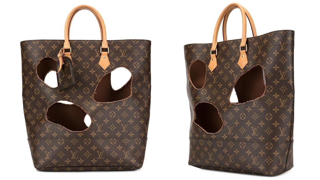 Ponen a la venta un bolso de Louis Vuitton de segunda mano con agujeros por 9.000 dólares