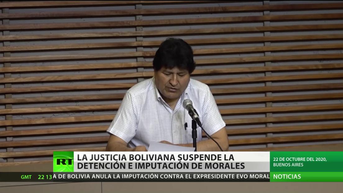 La Justicia boliviana suspende la orden de detención y la imputación de Evo Morales