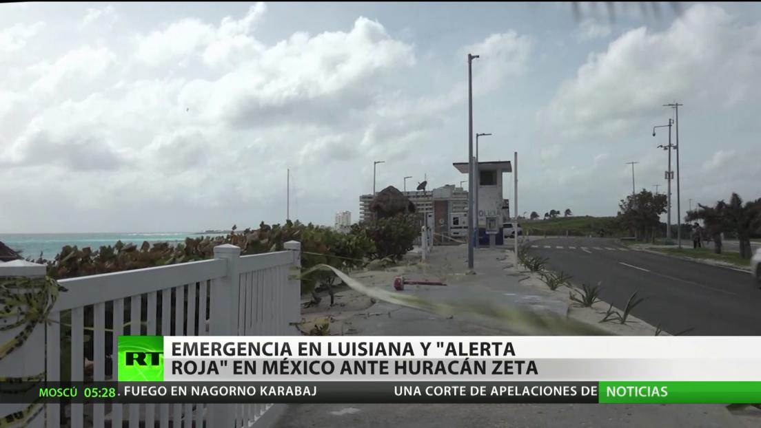 """Emergencia en el sur de EE.UU. y """"alerta roja"""" en México ante el huracán Zeta"""