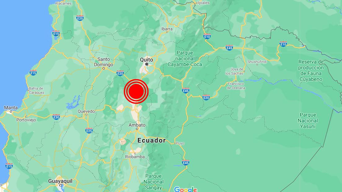 Un sismo de magnitud 4,9 sacude Ecuador