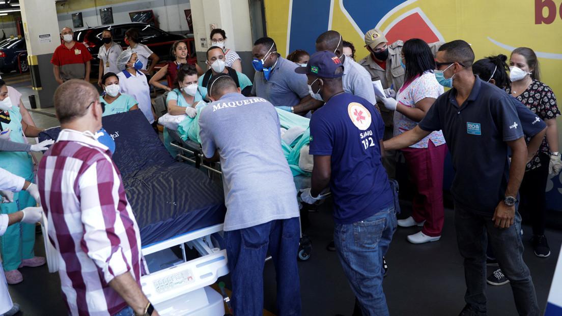 Al menos 200 pacientes son evacuados durante un incendio en un hospital en Río de Janeiro