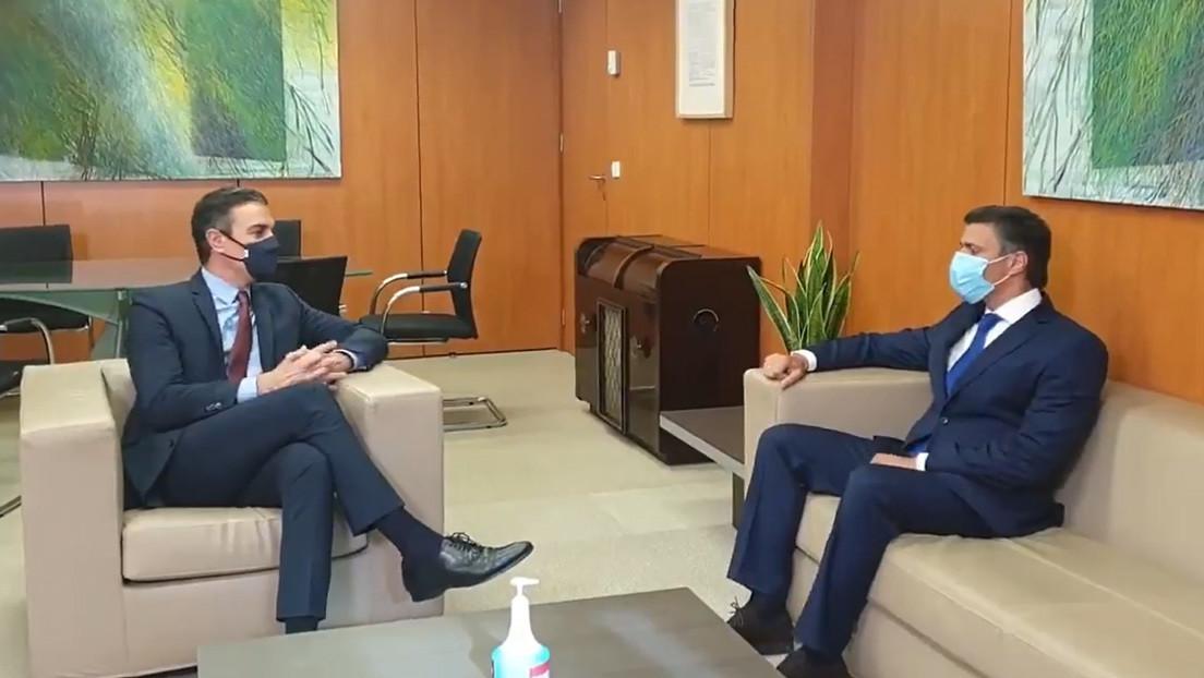 Pedro Sánchez recibe en Madrid al opositor venezolano Leopoldo López