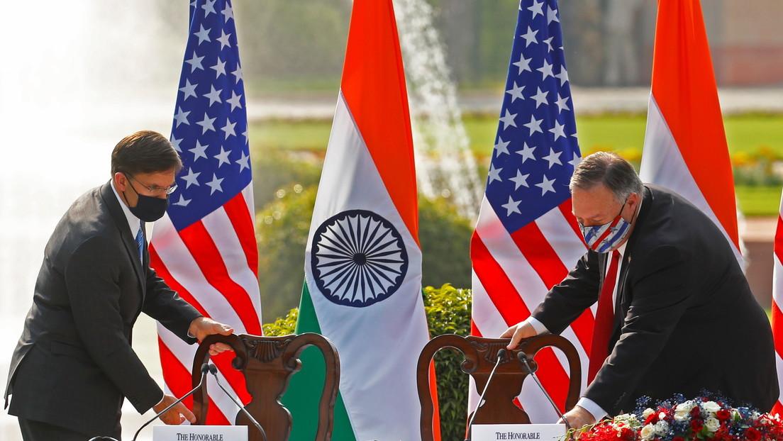 """Pompeo evoca la """"amenaza"""" china al firmar un pacto con la India, y Pekín le reprocha su """"mentalidad de Guerra Fría"""""""