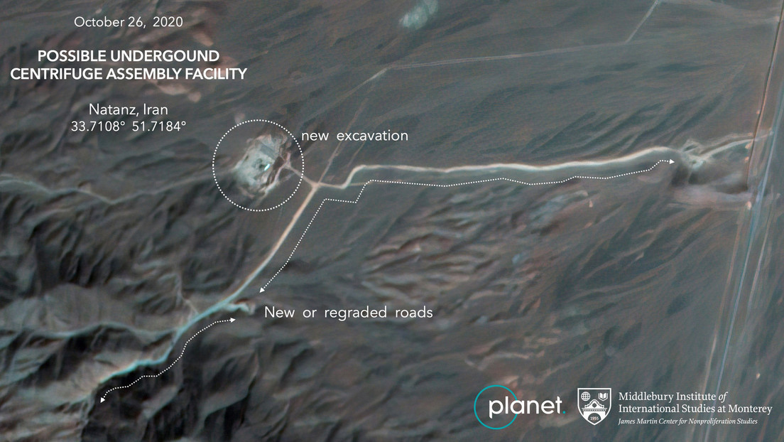 Imágenes satelitales muestran obras en una planta nuclear en Irán
