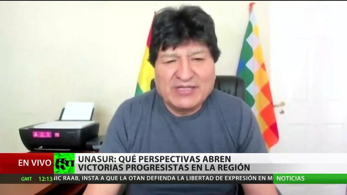 Evo Morales confía en que las victorias progresistas de la región abran camino para rescatar Unasur