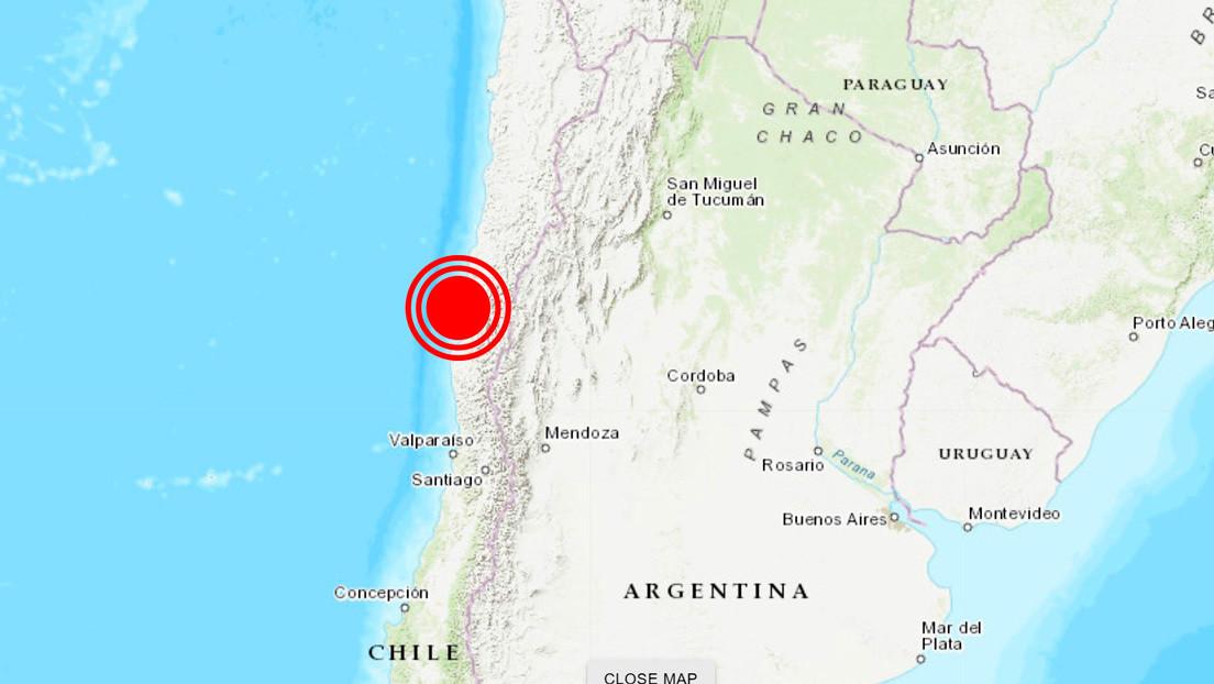 Un sismo de magnitud 5,8 sacude el norte y centro de Chile