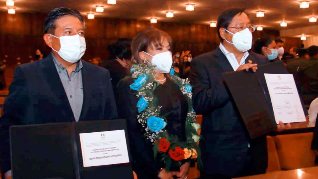 Tribunal Electoral entrega credenciales a Luis Arce y David Choquehuanca como presidente y vicepresidente electos de Bolivia