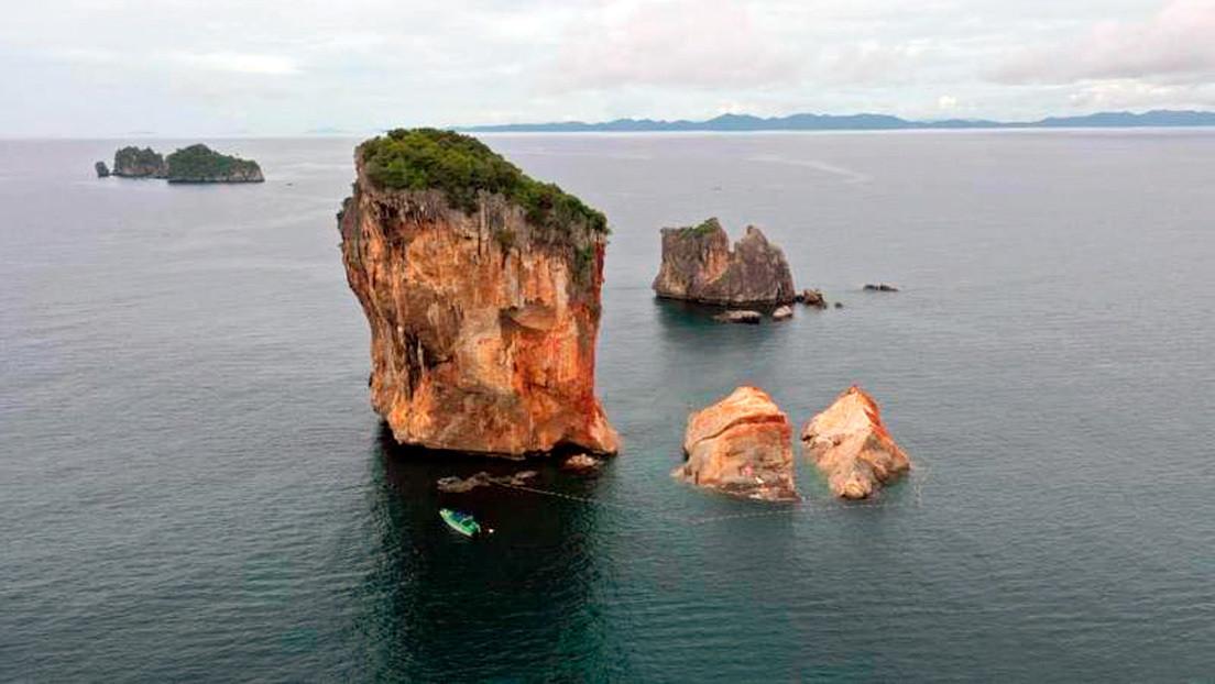 Una roca de uno de los lugares más populares del mundo en Instagram se rompe y cae al mar