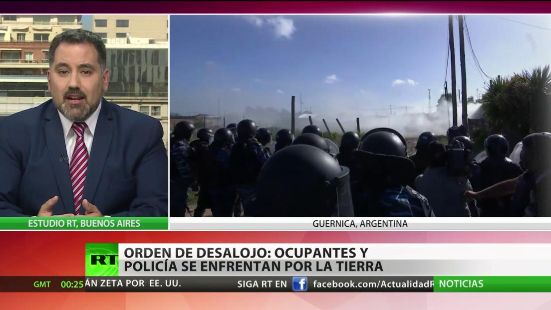 Argentina: La Policía desaloja con gases lacrimógenos a ocupantes ilegales de tierras en Guernica