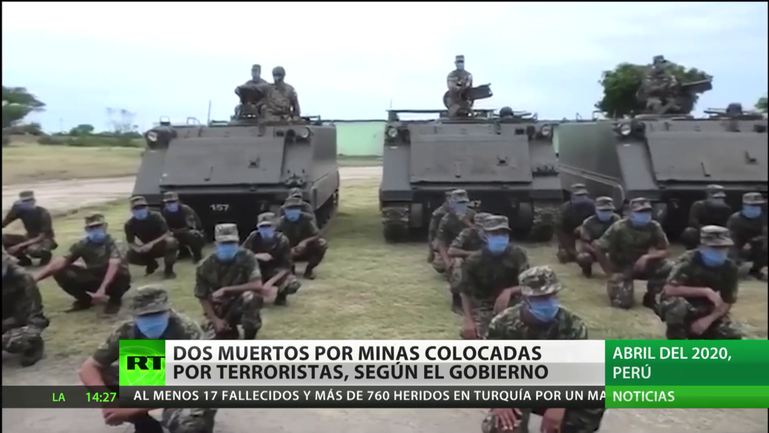 Perú: Minas colocadas por terroristas matan a dos militares y hieren a cinco