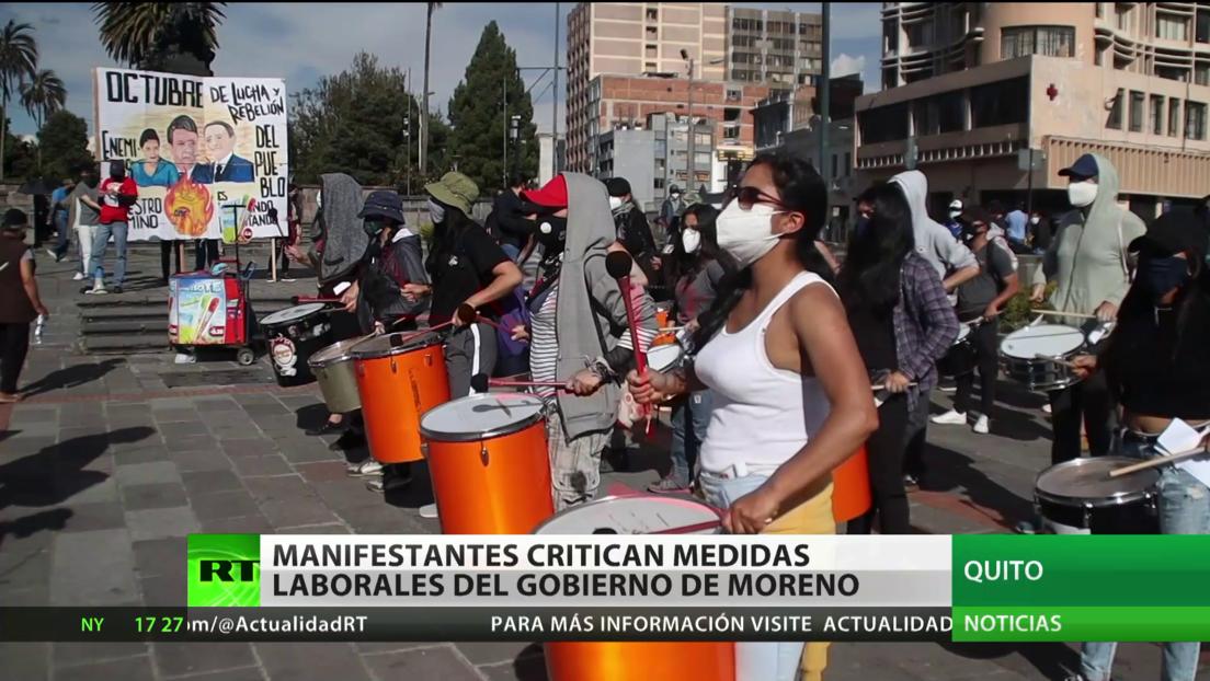 Ecuador: Manifestantes critican medidas laborales del Gobierno de Lenín Moreno