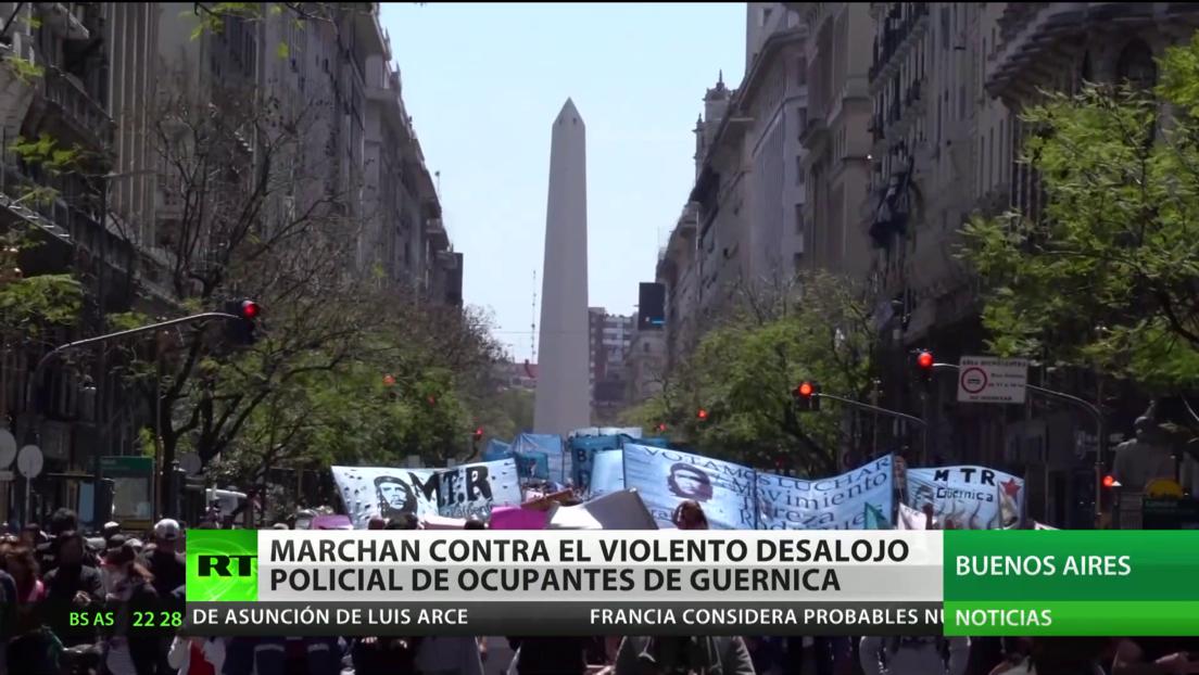 Argentina: Marchas contra el violento desalojo policial de ocupantes de Guernica
