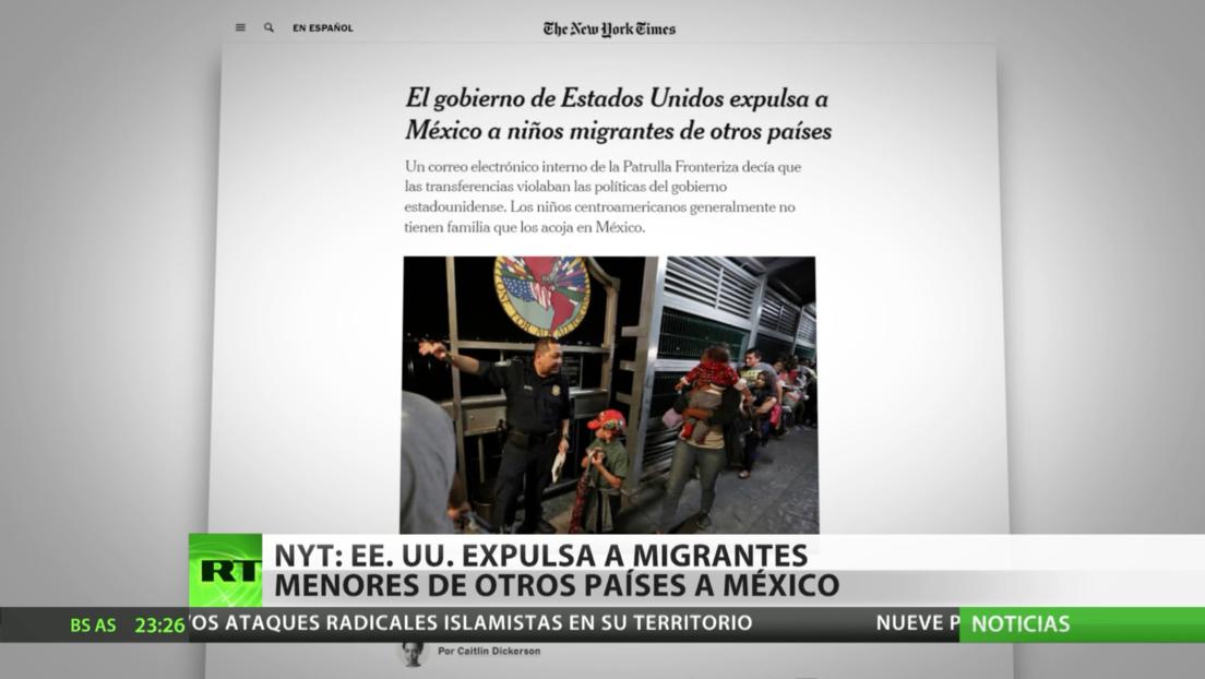 NYT: La Administración Trump deporta a México a menores no acompañados de otros países
