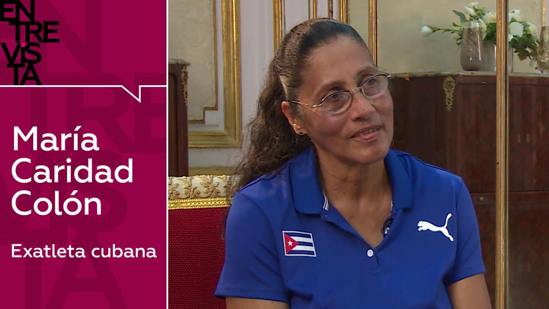 """Exatleta cubana María Caridad Colón: """"Cuando teníamos algún problema de lesiones o de ánimo, Fidel era nuestro dopaje"""""""
