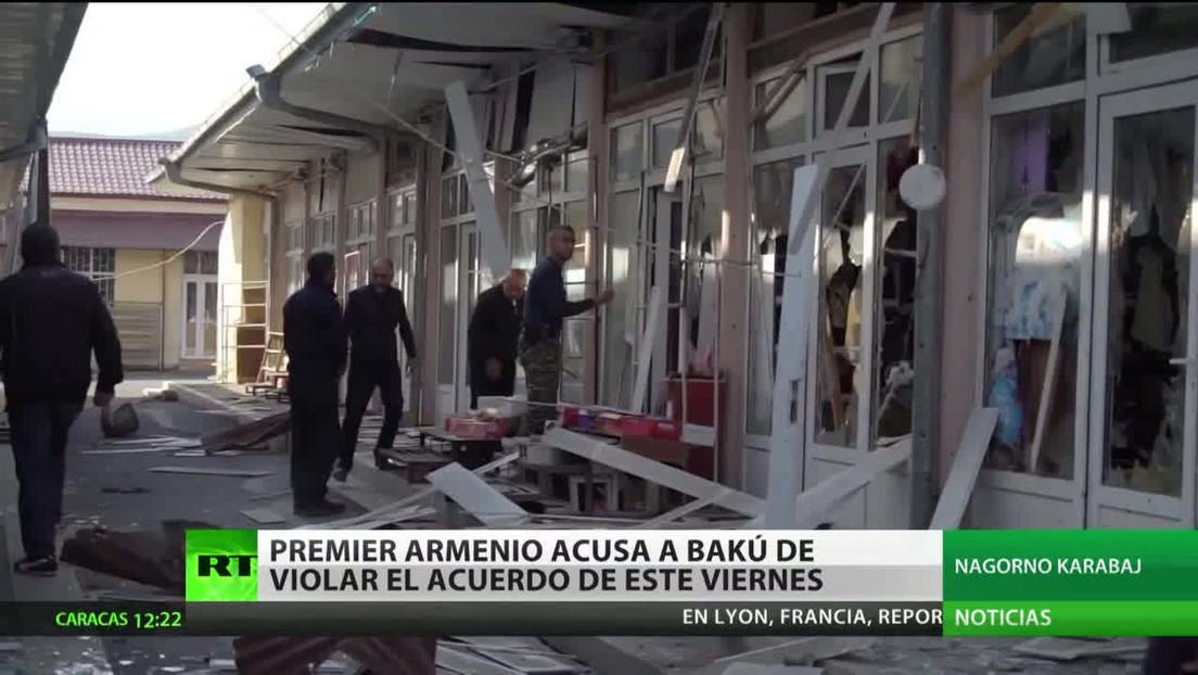 El primer ministro de Armenia acusa a Bakú de violar el acuerdo de este viernes