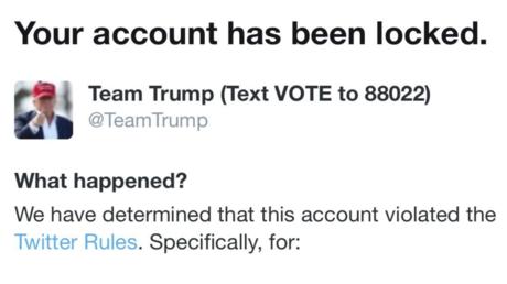 Twitter restringe temporalmente la cuenta de la campaña electoral de Donald Trump