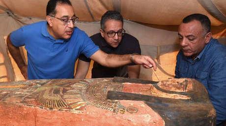 FOTOS: Descubren en Egipto más de 80 sarcófagos decorados y sellados de 2.500 años de antigüedad