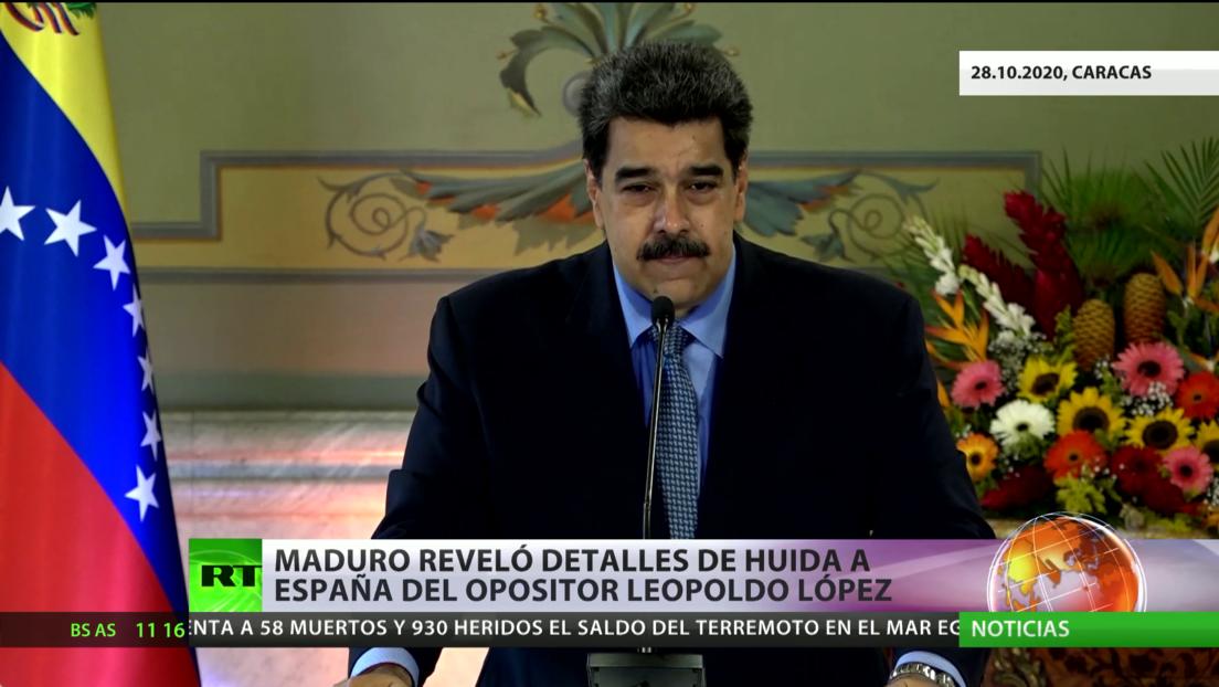 Maduro reveló detalles de la huida a España del opositor venezolano Leopoldo López
