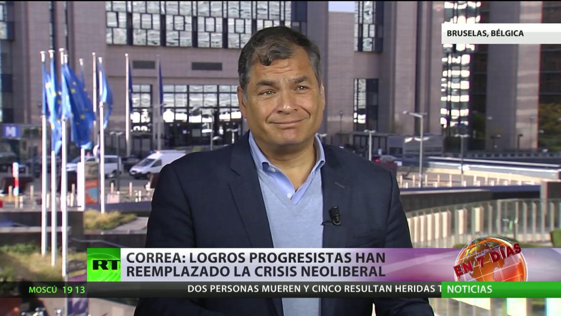 """Correa: """"Los logros progresistas han reemplazado la crisis neoliberal"""""""