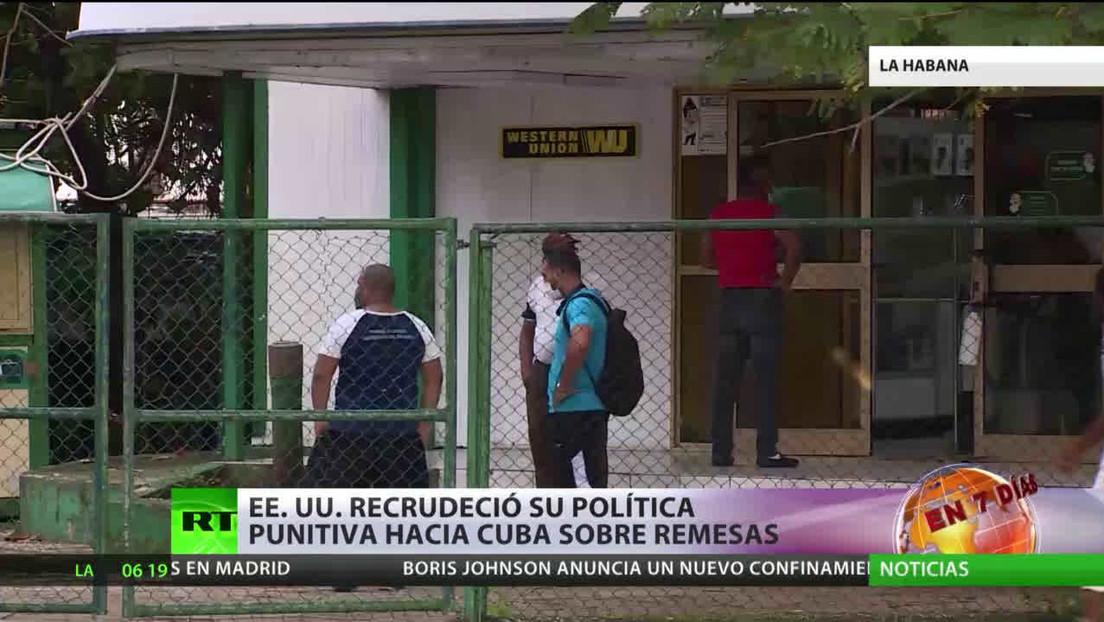 EE.UU. recrudece su política punitiva hacia Cuba sobre las remesas
