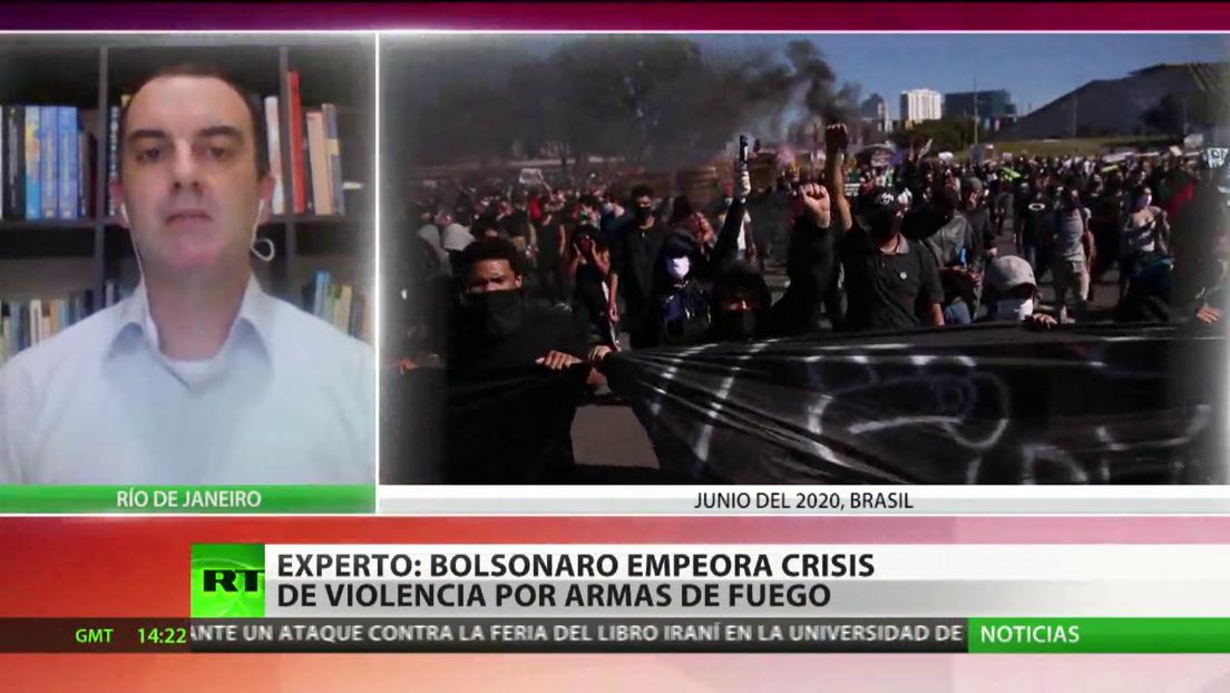 Crecen los índices de la violencia armada en Brasil bajo la gestión de Bolsonaro