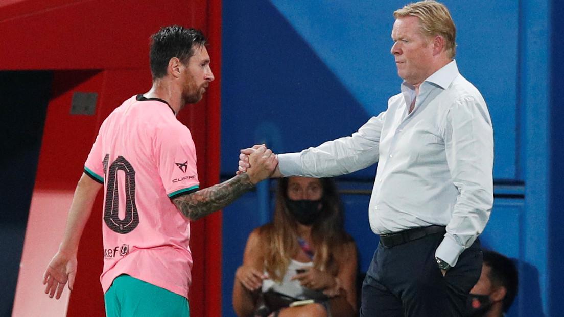 """""""No estoy de acuerdo"""": Koeman contradice a Setién sobre las dificultades para tratar con Messi"""
