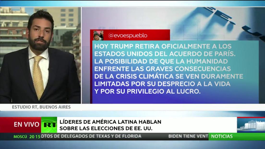 Líderes latinoamericanos reaccionan a las presidenciales de EE.UU.
