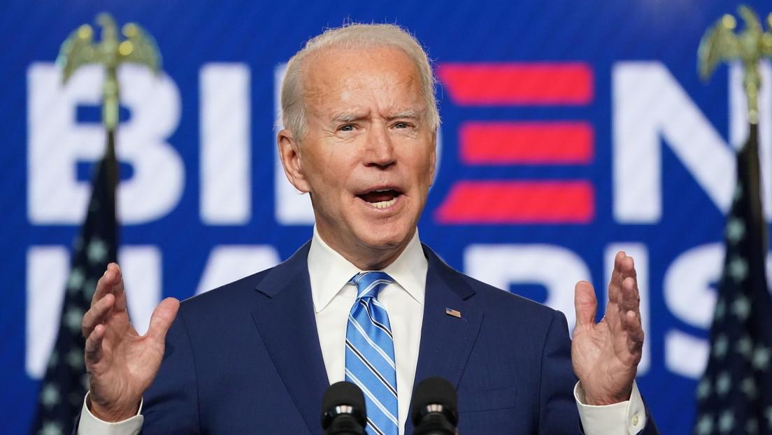 """Biden: """"Está claro que estamos ganando en suficientes estados para ganar la Presidencia"""""""