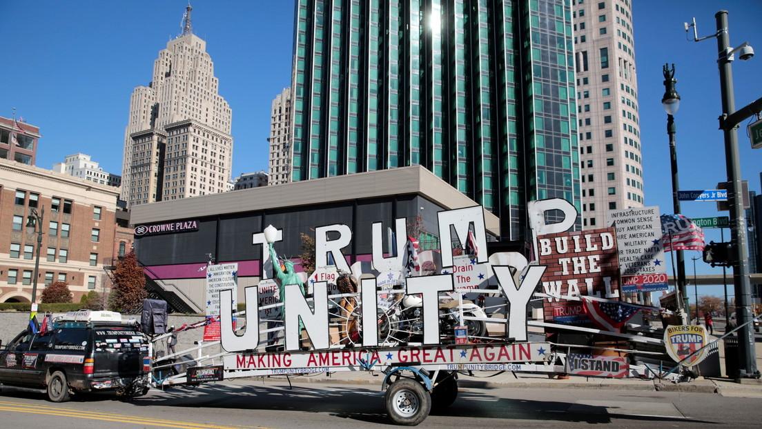 Trump reclama la victoria en Pensilvania, Georgia, Carolina del Norte y Míchigan