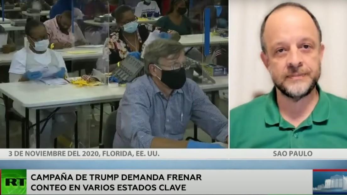 """Periodista: """"La ultraderecha de EE.UU. mantuvo mucha fuerza electoral y Trump desea mantenerla movilizada"""""""