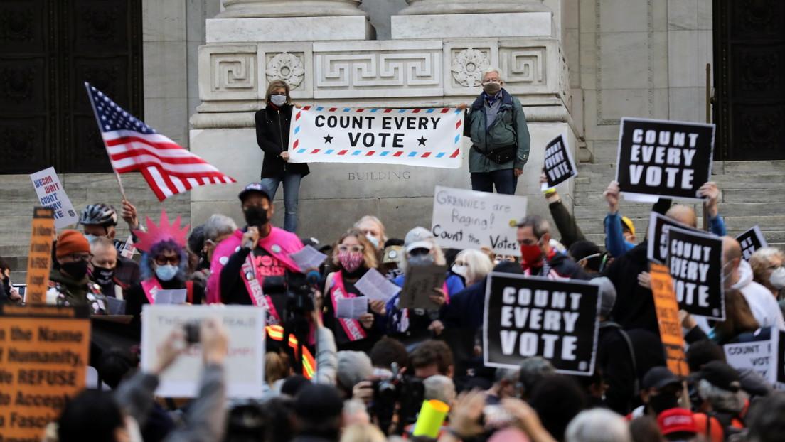 VIDEO: Protestas en Nueva York tras la jornada electoral en EE.UU.