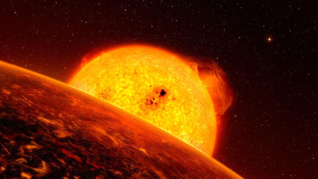 Identifican un exoplaneta donde soplan vientos supersónicos y llueven rocas sólidas sobre océanos de magma
