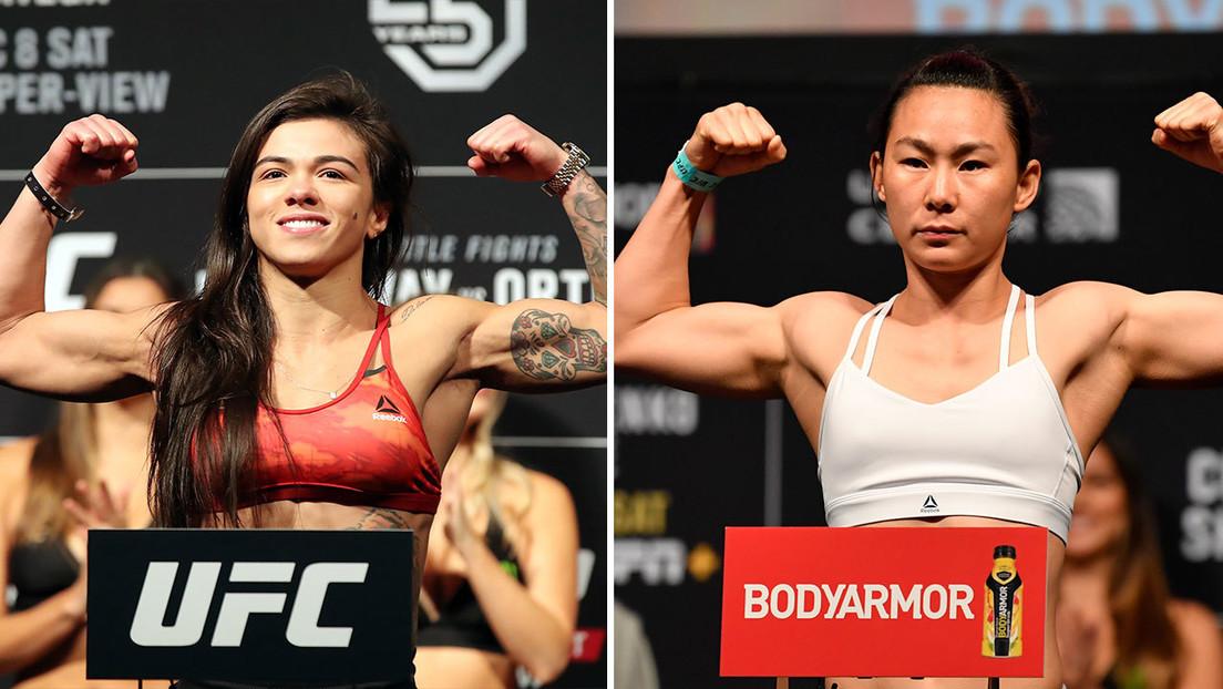 La promesa china de la UFC, invicta desde hace una década, enfrenta a una experimentada brasileña que quiere disputar de nuevo el título