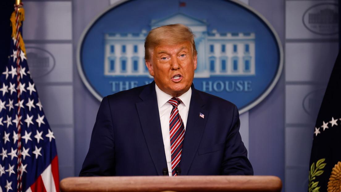 """Trump declara que """"estas elecciones están lejos de terminar"""" y que su campaña llevará el lunes el caso a un tribunal"""