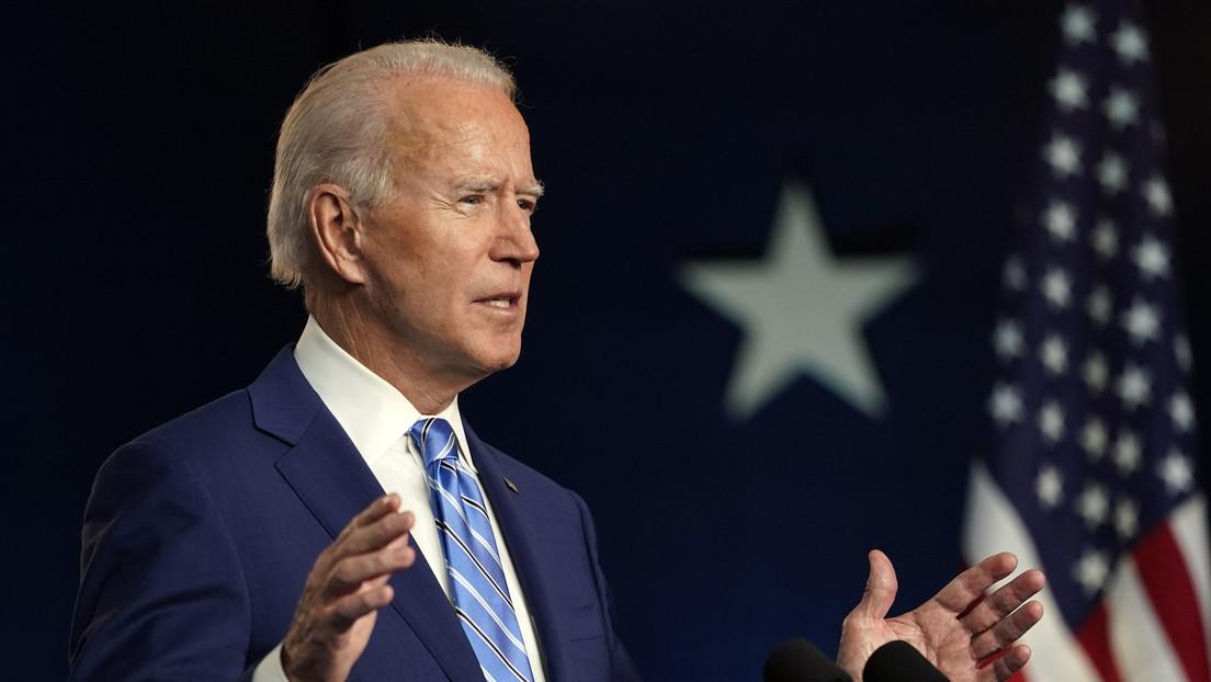 """Biden: """"Me honra que me hayan elegido para dirigir a nuestro gran país"""""""