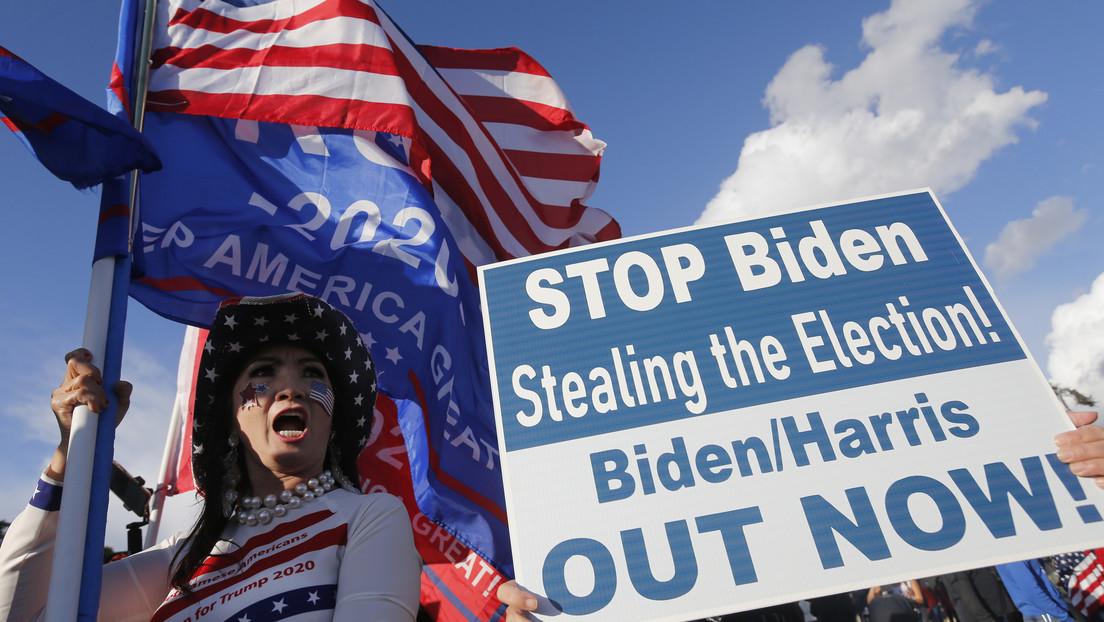 FOTOS, VIDEO: Partidarios de Trump se reúnen frente a los capitolios de sus estados para protestar contra la victoria de Biden